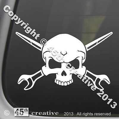 Ironworker Crossbones Decal - Steel Iron Worker Rigger Spud Wrench Skull Sticker