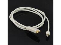 2x 8in Mini-DVI to HDMI M//F Adapter Cable Cord Plug for Apple iMac MacBook Pro