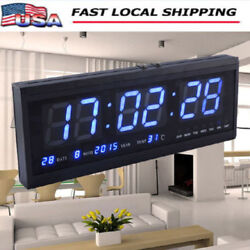 Practical Modern 48cm Digital Large Big Jumbo LED Wall Calendar Desk Tem Clock