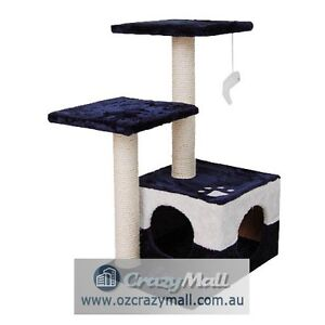 Cat Scratcher Post Small 70cm Blue/Red Melbourne CBD Melbourne City Preview