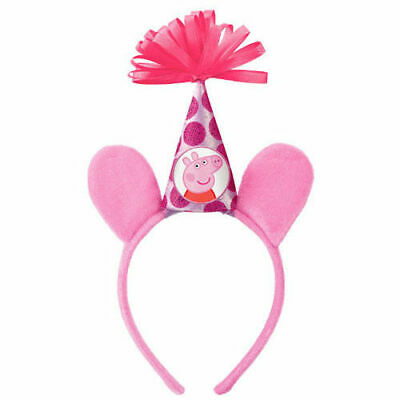 PEPPA PIG DELUXE HEADBAND ~ Birthday Party Supplies Favor Nick Jr Pink Dress Up ()