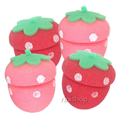 [ETUDE HOUSE] My Beauty Tool Strawberry Sponge Hair Curlers 4EA Rinishop