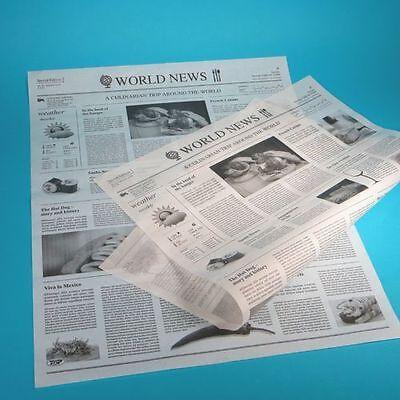 1000 Blatt Hamburgerpapier Einschlagpapier Zeitung XL 37,5x50cm fettdicht