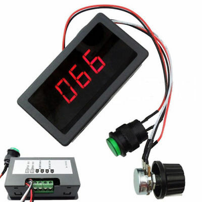 Dc 6-30v 12v 24v Max 8a Motor Pwm Speed Controller With Digital Display Switch R