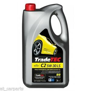 tradetec c2 5w 30 low saps 5l fully synthetic engine oil. Black Bedroom Furniture Sets. Home Design Ideas