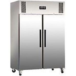 Polar-Gastro-1200-litre-Double-Door-Stainless-Steel-Freezer-G595