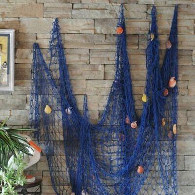100*200cm Fischernetz Dekoration mit Muscheln zum Aufhängen Maritime Deko-Netze