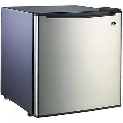 ثلاجة صغيرة جديد Small Refrigerator Dorm Fridge 1.7 cu ft Office Compact Room Beer Cooler Steel