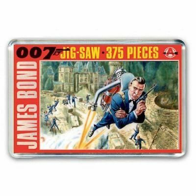 RETRO JAMES BOND 007 THUNDERBALL JIGSAW BOX ARTWORK - JUMBO FRIDGE MAGNET