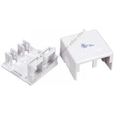 Double Hole SURFACE Mount Keystone Wall Box,2/Dual Jack/Port for Cat5e/6$SHdi{W