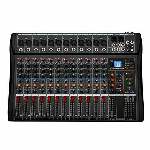 Depusheng 12 Channels Professional Studio Audio Mixer Bluetooth USB Digital DJ