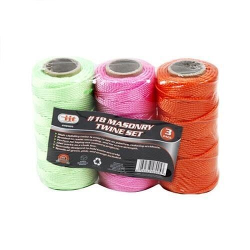 3 Pack #18 Braided Masonry Line String Twine Set Mason Line