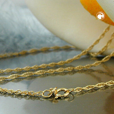 585 Gelbgold Kette 1,6mm Ankerkette gedreht 14Kt GOLD 45 cm Halskette Goldkette