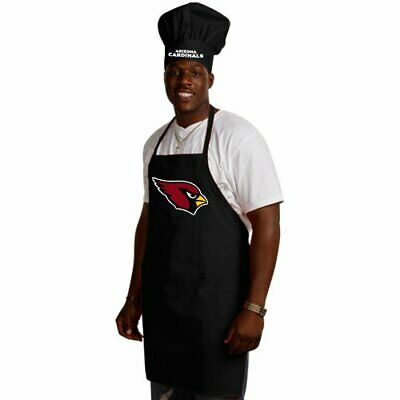 ARIZONA CARDINALS NFL APRON & CHEF'S HAT SET BARBECUE TAILGATING COOKING