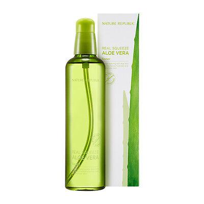 NATURE REPUBLIC Real Squeeze Aloe Vera Toner 150ml [Soothing] Korean Cosmetics