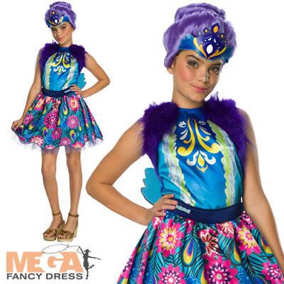 Patter Peacock Girls Fancy Dress Enchantimals Animal Kids Fairy Tale Costume New - Peacock Girls Costume