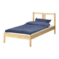 Pine Twin Bed Frame and Good Quality Foam Mattress