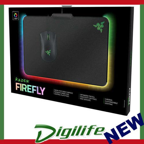 Razer Firefly Chroma Illuminated Hard Gaming Mouse Mat
