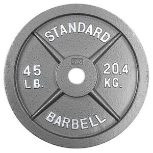 Two Olympic 45 LBS Plates (One Pair)
