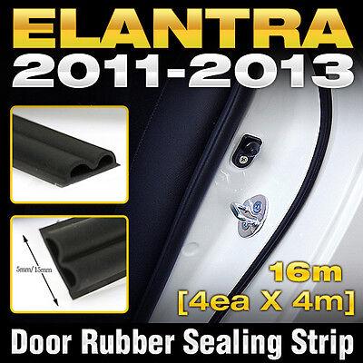 Car Door Auto Noise Rubber Seal Strip 4ea B type For HYUNDAI 2011-2016 -