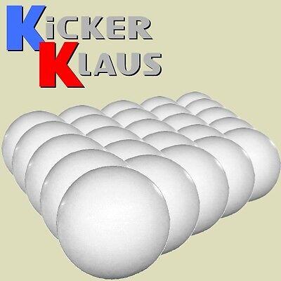 Art. 1606: Set Kickerbälle, 25 Stück, mittelhart, weiß