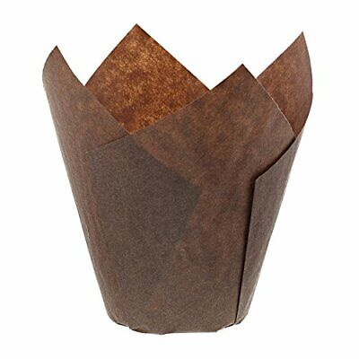 Royal Large Brown Tulip Style Baking Cups, Sleeve of 200, RP