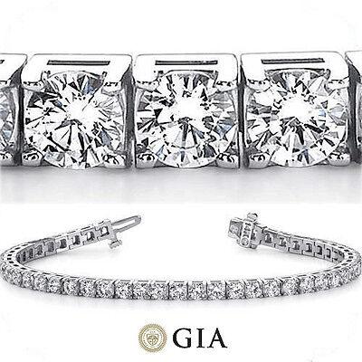 21.52 ct Round Diamond Tennis Bracelet 18k white Gold 27 x 0.73-.78 ct GIA F VS2
