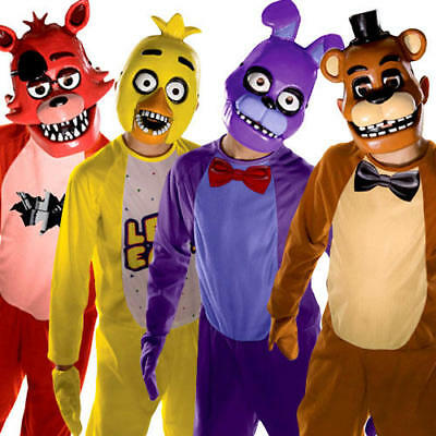 Five Nights at Freddys Kids Fancy Dress Halloween Horror Video Game Boys Costume