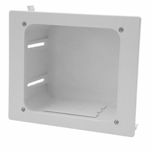 Construct Pro™ In-Wall Recessed Entertainment Box, White