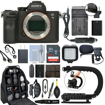 Sony Alpha a7 III Mirrorless 24MP Digital Camera Body + 64GB Pro Video Kit Digital Camera Pro Kit
