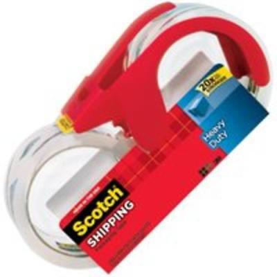 Scotch 3850s-2-1rd Heavy Duty Shipping Packaging Tape With Dispenser