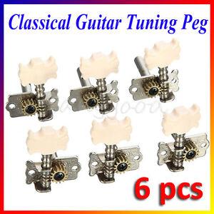 6PCS Classical Guitar Tuning Pegs Single Machine Heads Tuners Keys String Musice