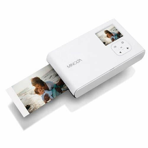 как выглядит Minolta Instapix AlI in One Instant Print Camera Bluetooth Printer, Charcoal фото