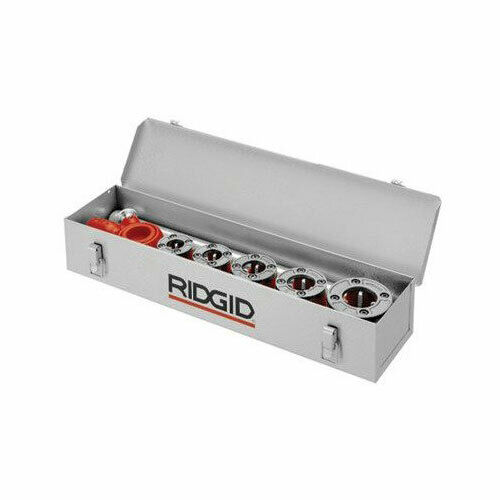 "Ridgid 38625 25-7/8""x 5""x 6-1/2"" 12R Threader 6 Die Heads Metal Carrying Case"