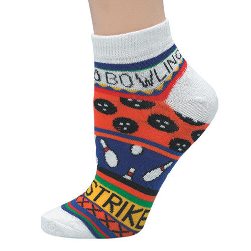 """Master Mas2700   """"bowling Strike Red"""" Ladies Bowling Pin Socks Fast Shipping"""