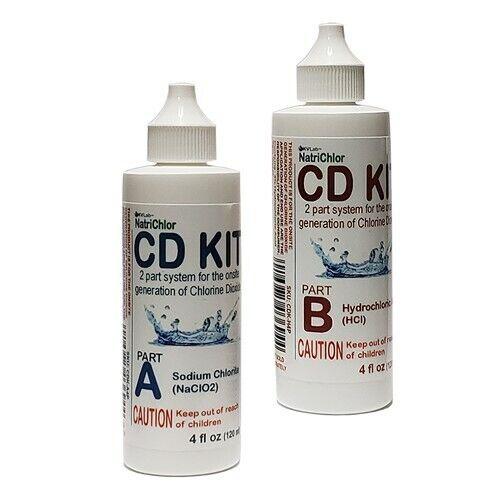 Water Purification Set Dioxido de Chloro A+B HCl Activator 4+4 oz USA Original