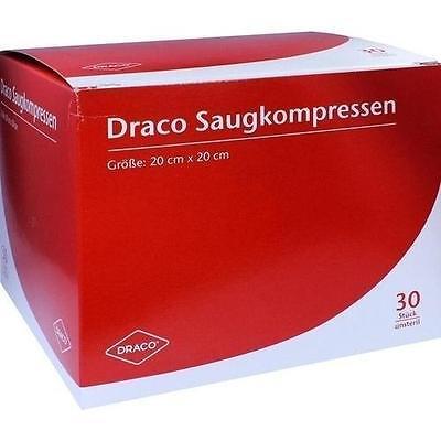SAUGKOMPRESSEN unsteril 20x20cm Draco 30St Kompressen PZN 948791