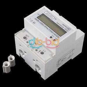 230V 100A LCD DIN-rail Type Kilowatt Hour kWh Single Phase Energy Meter 50HZ