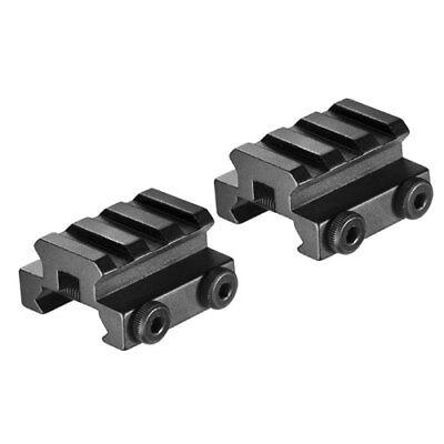 (Barska Tactical Set of Picatinny Style Riser & Rail Scope Ring Mounts, AW11762)