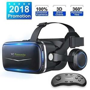 Brand New Pansonite VR Headset W/ Remote Controller 3rd Glasses Virtual Reality