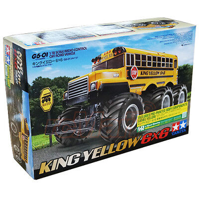 Tamiya 1:18 G6-01 King Yellow Painted Body 6x6 Monster Truck RC Cars Kit #47376 for sale  Shipping to Canada