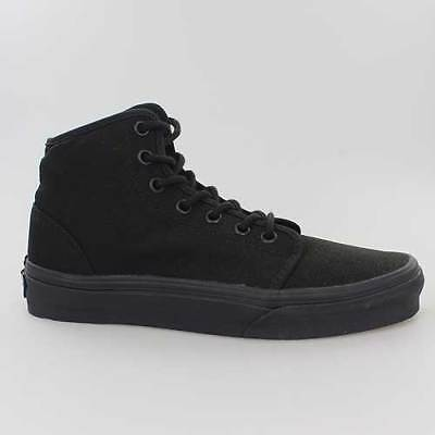Schwarz Mono Hi Schuhe (VANS SCHUHE 106 HI MONO CHROME BLACK SCHWARZ CANVAS VRQMBKA)