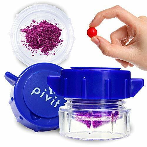 Pivit Pill Pulverizer Crusher Grinder with Built-In Medication Organizer Case