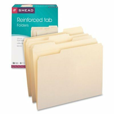 Smead 10334 Manila File Folders - Letter - 8.50 X 11 - 0.75 Expansion - 13