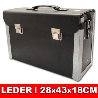 Leder Werkzeugkoffer Werkzeugkasten Montagekoffer Werkzeugtasche Werkzeug Koffer