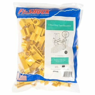 Fi-shock Itty-fs T-post Poly Tape Insulator Yellow