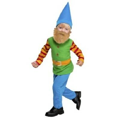 boys toddler 2T BEARDED GNOME elf 5-piece costume w/ hammer green & blue - Gnome Toddler Costume