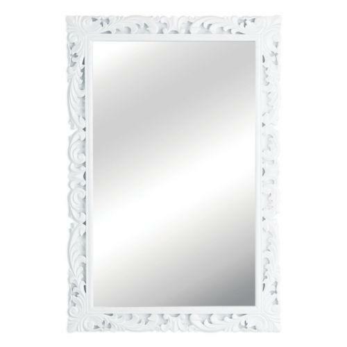 Large white framed mirror ebay for Large white framed mirror