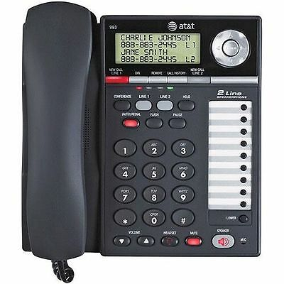 AT&T 993 2 Line Office Business CID Speakerphone Conference Headset Jack Phone