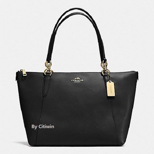 Coach - New COACH F57526 AVA Crossgrain Leather Tote Handbag Purse Shoulder Bag BLACK